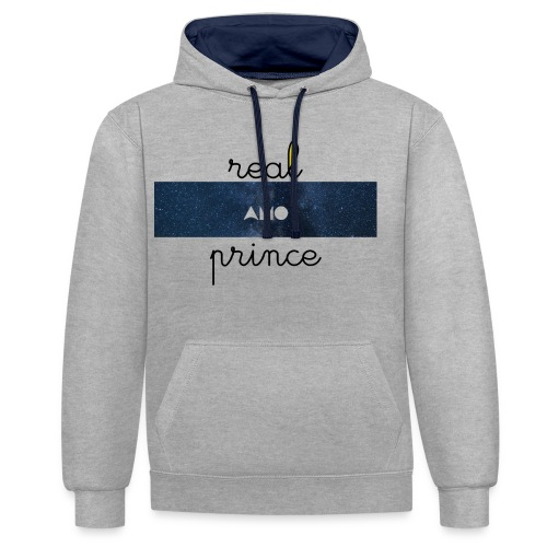 Real prince amo Galaxie - Sweat-shirt contraste