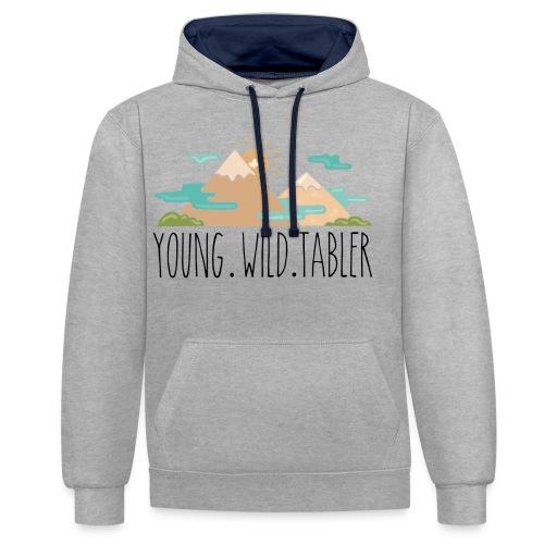 young.wild.tabler - Kontrast-Hoodie