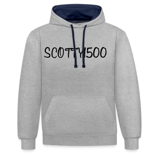 Scotty1500 Hoodie (White) - Contrast Colour Hoodie
