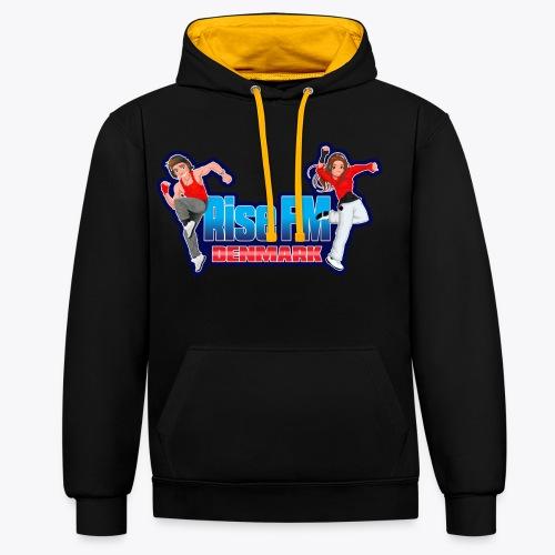 Rise FM Logo - Contrast Colour Hoodie