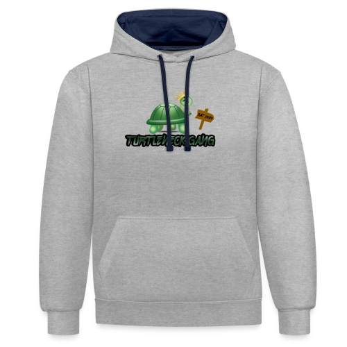Turtle Neck Design 1 - Contrast Colour Hoodie