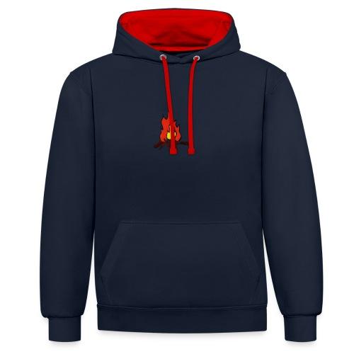 Fire color fuoco - Felpa con cappuccio bicromatica