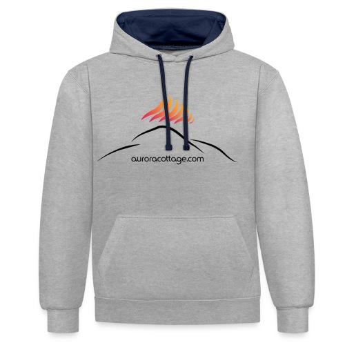 auroracottage.com - Kontrast-Hoodie