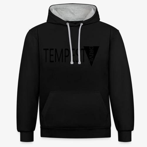 Tempest Drive: Full Logo - Kontrast-hættetrøje