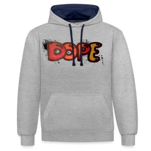 Dope phrase - Contrast Colour Hoodie