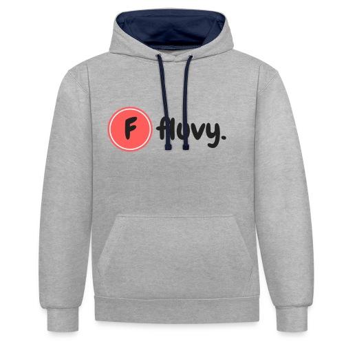 Fluvy Basic - Sweat-shirt contraste