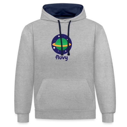 Fluvy Space - Sweat-shirt contraste