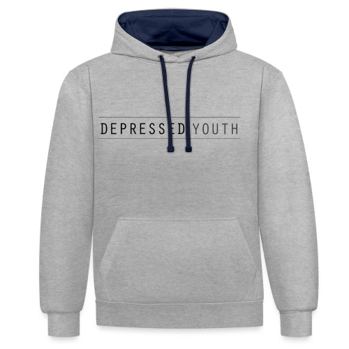 Depressed Youth - Kontrast-Hoodie