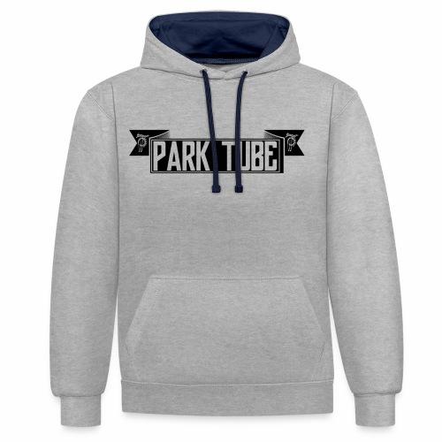 ParkTube Banner schwarz - Kontrast-Hoodie