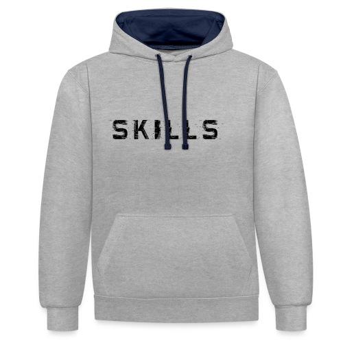 skills cloth - Felpa con cappuccio bicromatica