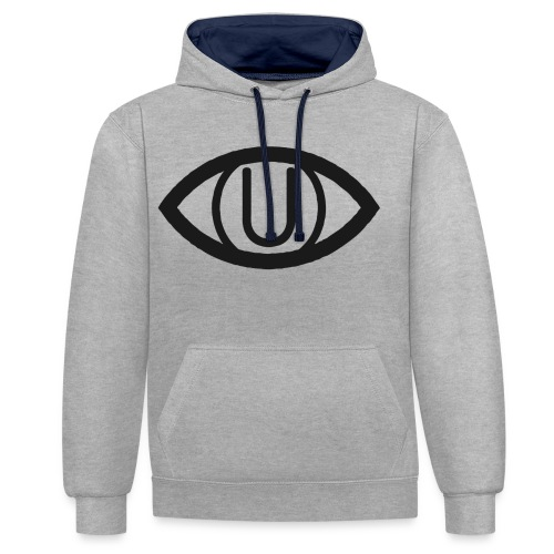 EYE SYMBOL BLACK - Contrast Colour Hoodie
