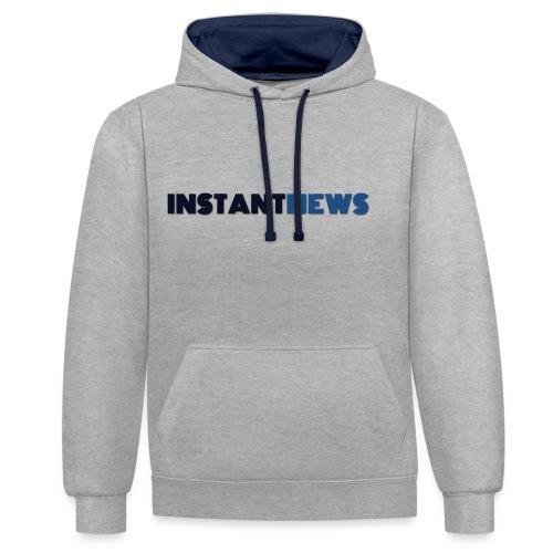 instantnews - Felpa con cappuccio bicromatica