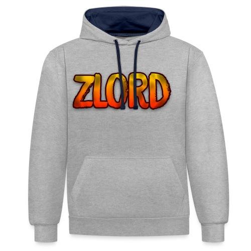 YouTuber: zLord - Felpa con cappuccio bicromatica