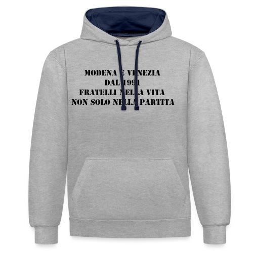 Gemellaggio Modena Venezia - Felpa con cappuccio bicromatica