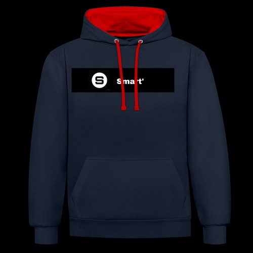 Smart' BOLD - Contrast Colour Hoodie