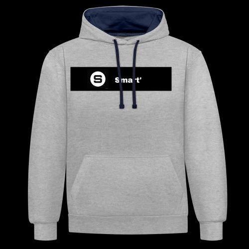 Smart' BOLD - Contrast Colour Hoodie