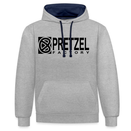 Pretzel Factory Logo Noir - Sweat-shirt contraste