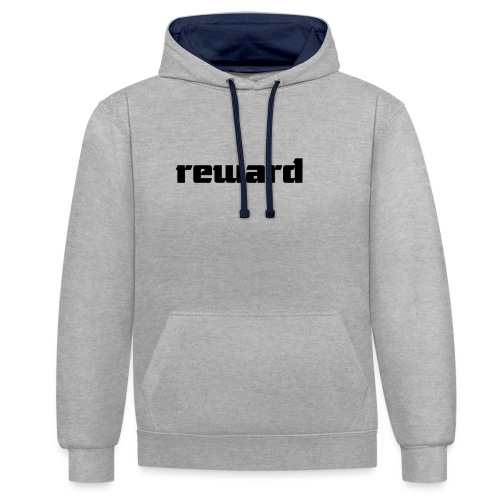 reward black logo - Contrast Colour Hoodie