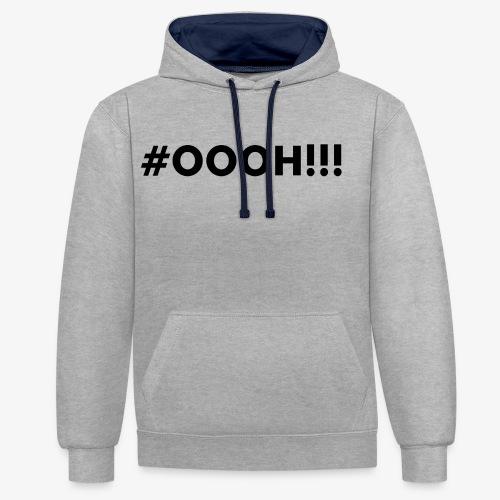 #OOOH!!! Black - Contrast hoodie