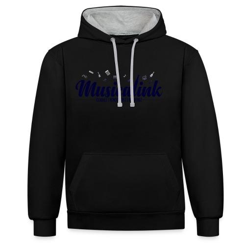 Musicalink blue - Sweat-shirt contraste