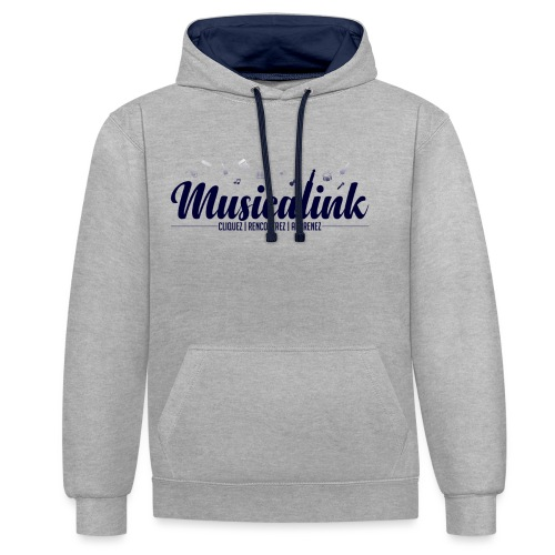 Musicalink blue - Sweat-shirt contraste