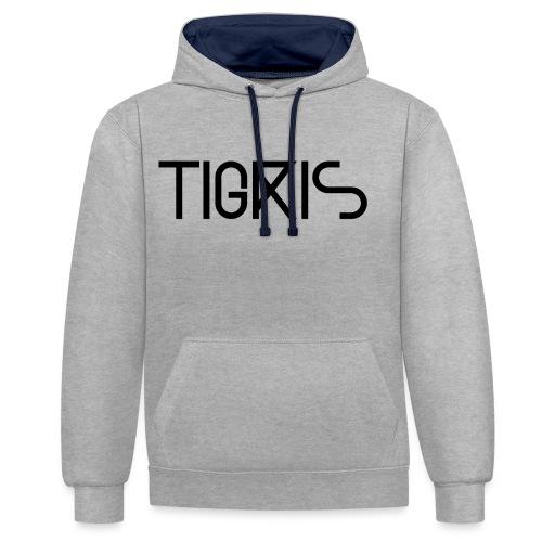 Tigris Vector Text Black - Contrast Colour Hoodie
