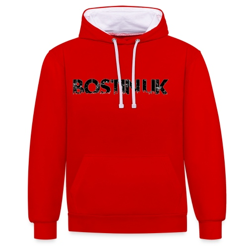 Bostin uk white - Contrast Colour Hoodie