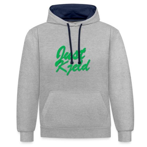 JustKjeld - Contrast hoodie