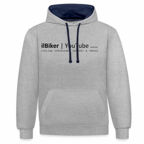 ilBiker - Scritta completa - Felpa con cappuccio bicromatica