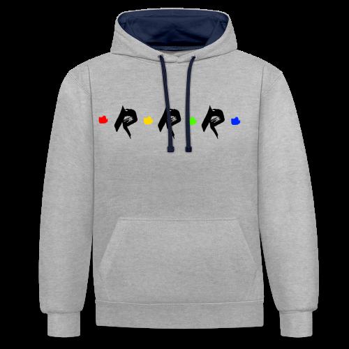 RRR - rainbow. - Kontrast-Hoodie