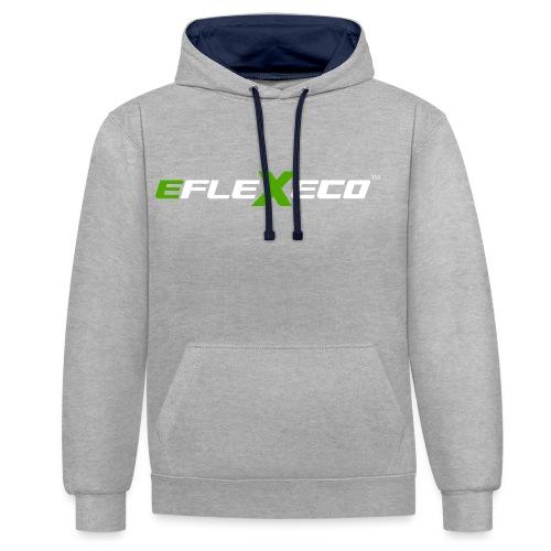 eFlexEco Inverted - Contrast Colour Hoodie