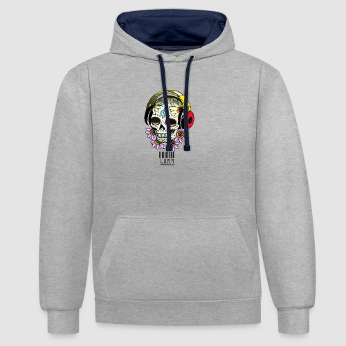 smiling_skull - Contrast Colour Hoodie