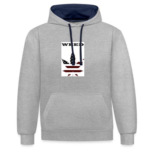 WEED Shirt - Kontrast-Hoodie