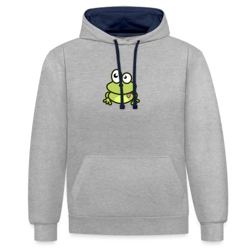 Frog Tshirt - Contrast Colour Hoodie