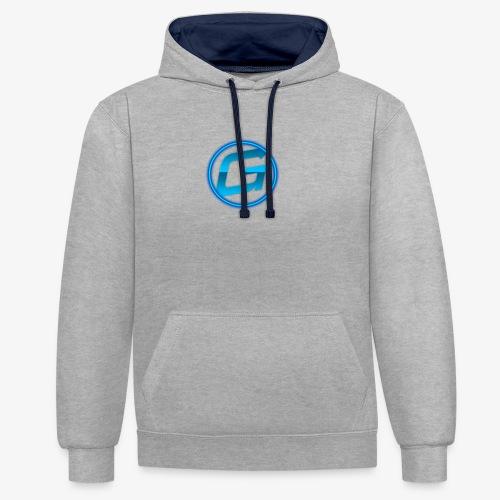 Logo klein - Contrast hoodie