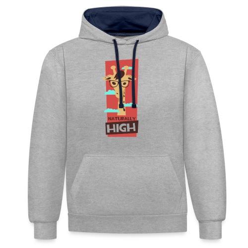 naturally high - Kontrast-Hoodie