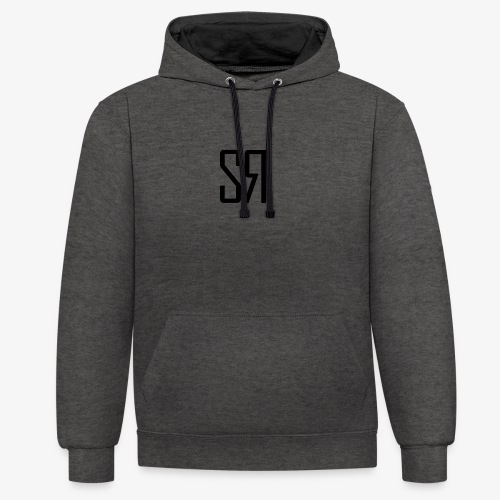 Black Badge (No Background) - Contrast Colour Hoodie