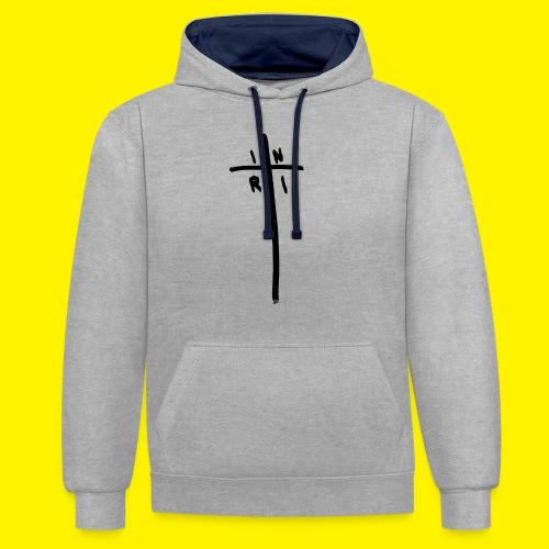 Cross - INRI (Jesus of Nazareth King of Jews) - Contrast Colour Hoodie