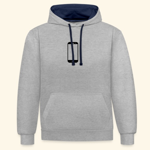 Phone clipart - Contrast Colour Hoodie