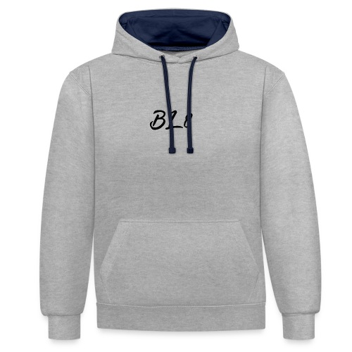 Bare Late Lettering - Contrast Colour Hoodie