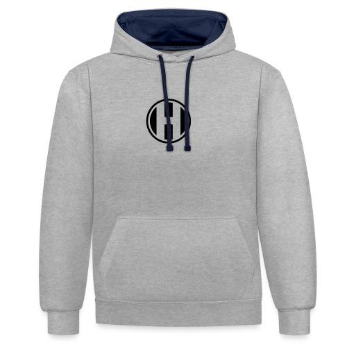 H Logo - Sudadera con capucha en contraste