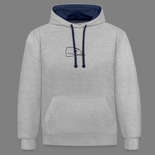 Snake logo black - Contrast hoodie