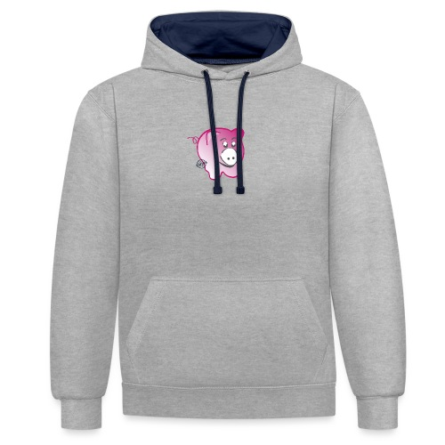Pig - Symbols of Happiness - Contrast Colour Hoodie
