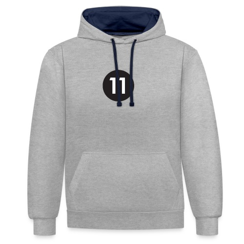 11 ball - Contrast Colour Hoodie