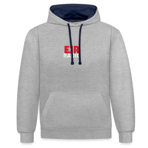 EJR_Words_Logo - Contrast Colour Hoodie