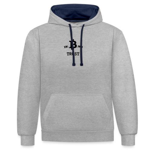 In B we trust - Contrast hoodie