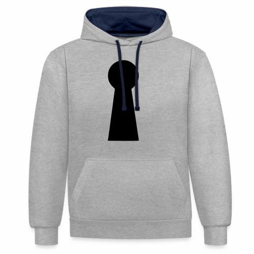 Schlüsselloch - Kontrast-Hoodie