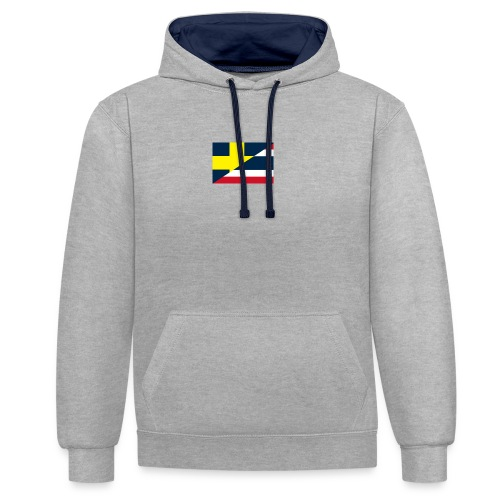 thailands flagga dddd png - Contrast Colour Hoodie