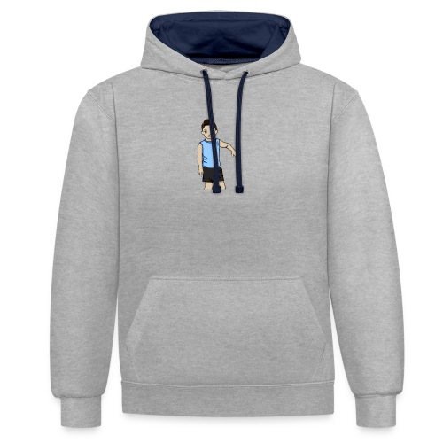 OfirGaming HD logo - Contrast Colour Hoodie
