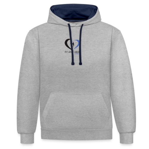 Fit and Able Fitness Logo - Contrast Colour Hoodie